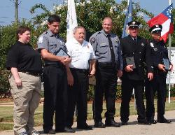 FIRST RESPONDERS RECEIVING AWARDS AT CC VETERANS PARK