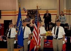 COLOR GUARD PARTICIPATING IN THE MAYFEST EVENT